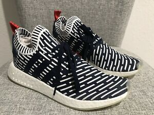 ADIDAS MEN'S NMD R2 Primeknit Shoes Roni PK Blue White BB2909 New Size 12.5