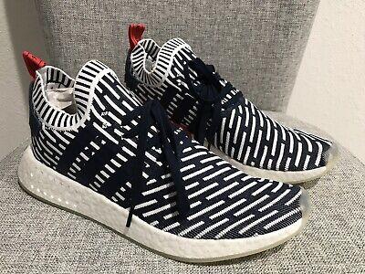 Adidas Men's NMD R2 Primeknit Shoes Roni PK Blue White BB2909 New Size 12.5