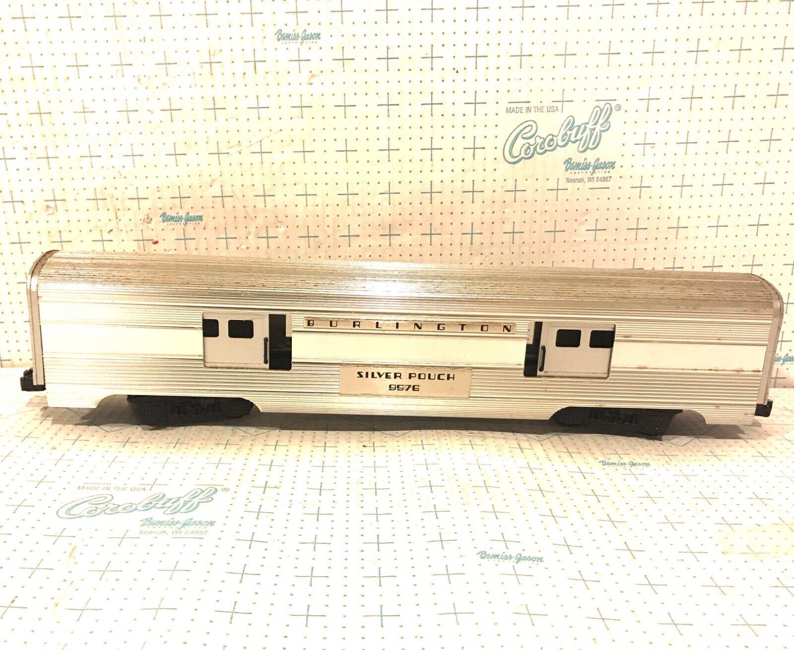 LIONEL O GAUGE 69576 BURLINGTON argento POUCH ALUMINUM auto
