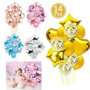 14pcs-set-Nozze-Compleanno-Palloncini-in-Lattice-confetti-Foil-KIDS-BOY-GIRL-BAMBINO-PARTY