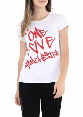 New Ladies Printed Celeb Concert Party ONE LOVE MANCHESTER Tee T Shirt TOP 8-14