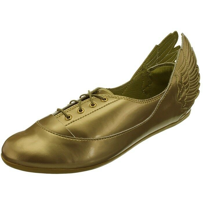 Adidas JS Wings Easy Five gold Jeremy Scott Women's Flats Flats Flats shoes rare  Collectors 859256