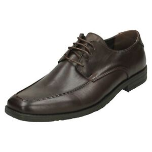 Mens A2102 Dark Brown Lace Up Shoes By Malvern Retail £ 9.99