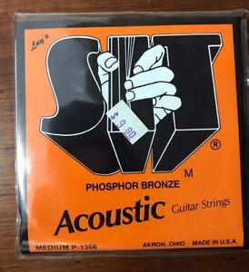 SIT Guitar Strings Acoustic Medium P-1356 NOS