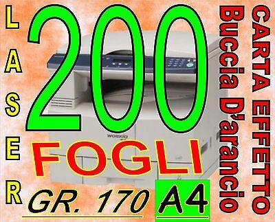 Amichevole 200 Fogli A Gr 170 Carta Effetto Buccia D'arancio Foto Ruvida Stampanti Laser