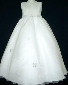 White Flower Girl Dresses Size 12 73