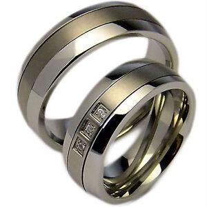 2-Trauringe-Hochzeitsringe-Verlobungsringe-Eheringe-Edelstahl-mit-Titan-amp-Gravur