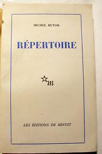 BUTOR-REPERTOIRE-1-ROUSSEL-PROUST-ED-MINUIT-1960-EO