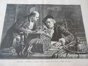 Copieux Gravure 1899 L'intendant Un Règlement Difficile D'après Léon Brunin