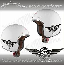 ADESIVO DECAL STICKERS REPLICA HARLEY DAVIDSON USA CASCO MOTO CUSTOM
