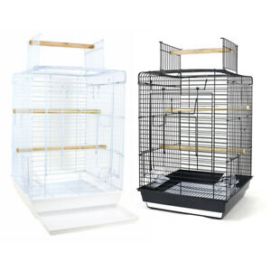 Metal-Bird-Cage-Budgie-Finch-Canary-Parakeet-Cockatiel-Parrot-Cage-Open-Top-Play