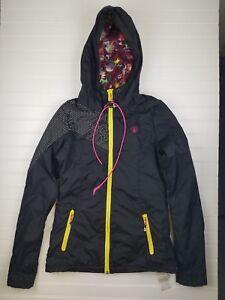 VOLCOM-600-mm-PUFFY-Full-Zip-Hooded-Jacket-Insulated-Winter-Black-WOMEN-039-S-XS