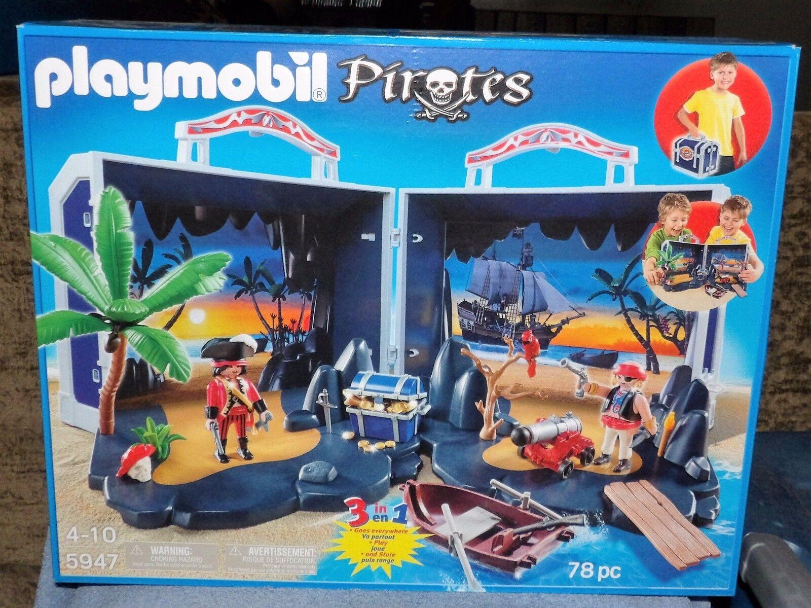 Playmobil pirates Take Along Pirate  Treasure Chest Set  5947  plus abordable