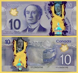 Canada 10 Dollars p-107 2013 Sign. Macklem & Poloz UNC Banknote