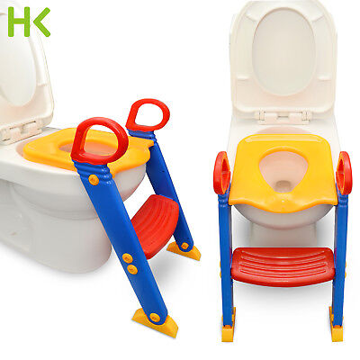 Amazing Kids Potty Training Seat With Step Stool Ladder Toilet Chair For Child Toddler Ebay Creativecarmelina Interior Chair Design Creativecarmelinacom
