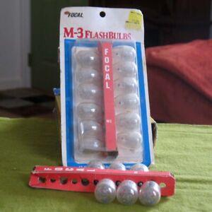 18 Vintage M-3 Focal Flashbulbs in 12 Original Packaging Plus 6 Loose Bulbs