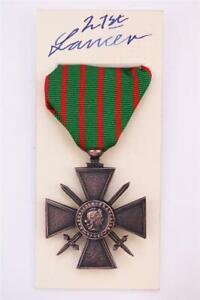 WW1 FRENCH CROIX DE GUERRE MEDAL CROSS OF WAR 1916-17
