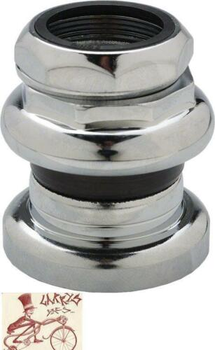"""TANGE PASSAGE 1/"""" THREADED 26.4 CROWN RACE CHROME BMX-MTB-ROAD BICYCLE HEADSET"""