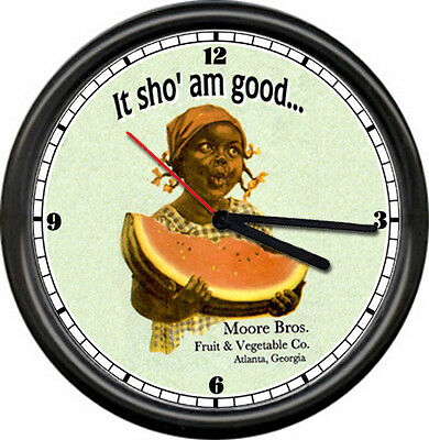 Black Girl Watermelon Sho Am Good Wall Clock  #80