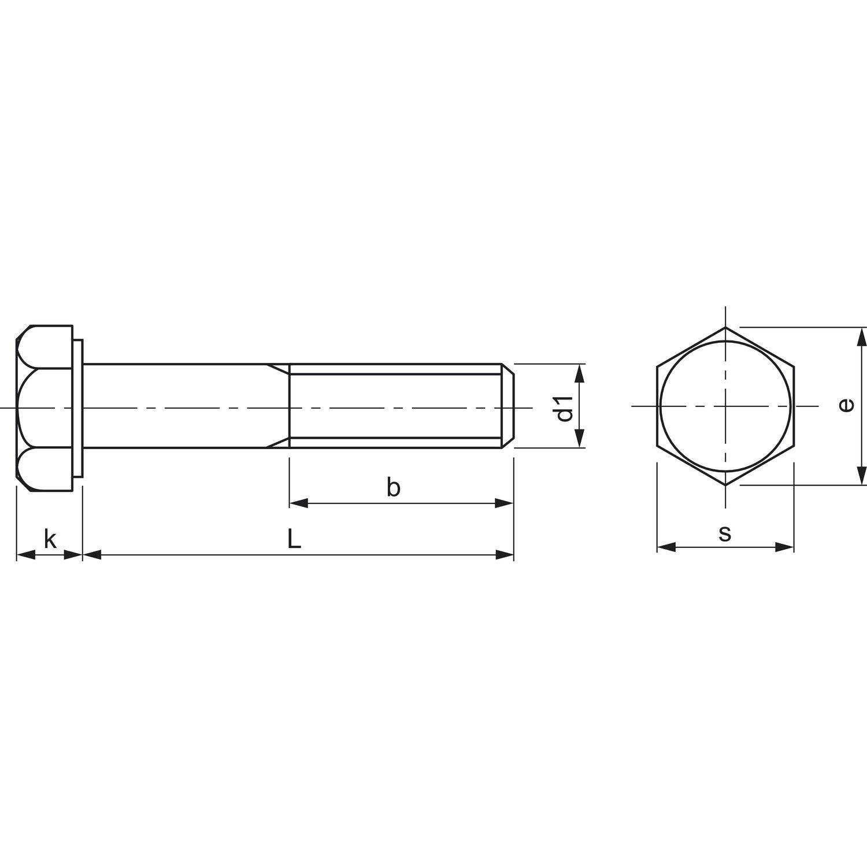 DIN 931 10.9 M12x 45 45 45 verzinkt Sechskantschraube mit Schaft 66bdae