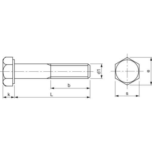 ISO4014 M20x100 Edelstahl A2-70 Sechskantschraube mit Schaft DIN 931