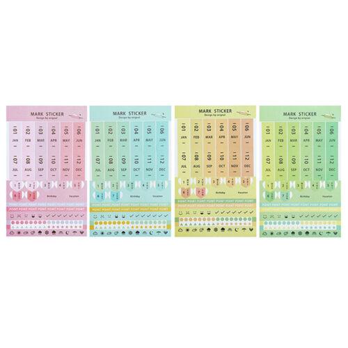 8 Blätter DIY Kalender Fotopapier Aufkleber Scrapbook Tagebuch Planer Dekor