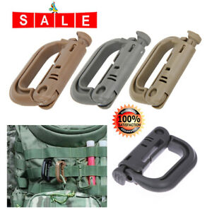 5x-Molle-Carabiner-D-Locking-Ring-Mount-D-Ring-Clip-Snap-Hook-Buckle-Camping