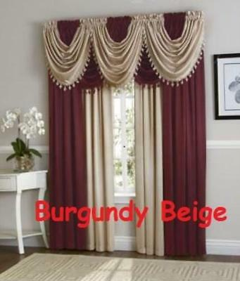 Luxurious HILTON WINDOW TREATMENT,window curtain, Panel or fringed valance