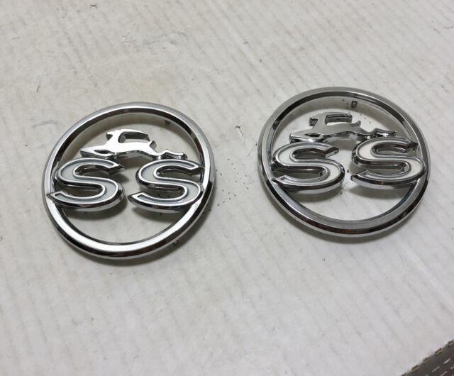 NOS Pair 1963 Impala SS Super Sport Quarter Panel Emblems GM Pt 3829300