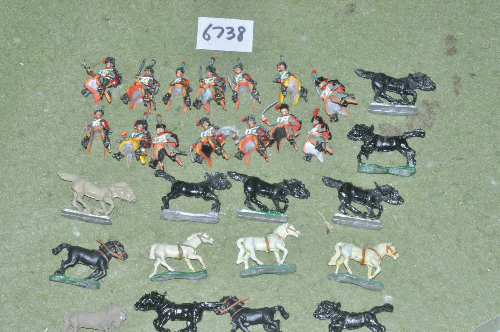 25mm napoleonic   french - chevaux legers 14 metal painted - inf (6738)