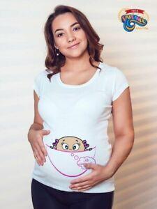Maglietta Premaman T-shirt Futura Mamma Sto Arrivando Gravidanza Idea Regalo Bon Pour AntipyréTique Et Sucette De La Gorge