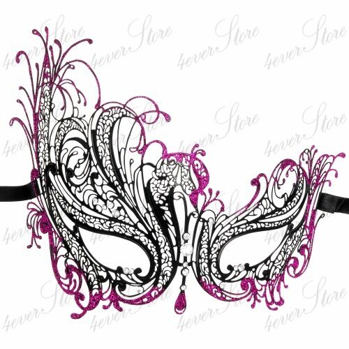 Laser Cut Venetian Masquerade Mask for Women with Sparking Rhinestones M7139