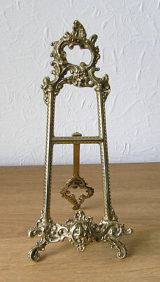 """Baroque"" Italian Cast Brass Display Easel 15cm x 33 cm"