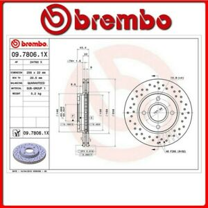 09-7806-1X-25-DISCO-FRENO-ANTERIORE-SPORTIVO-BREMBO-XTRA-FORD-FIESTA-V-Van-1-6-T