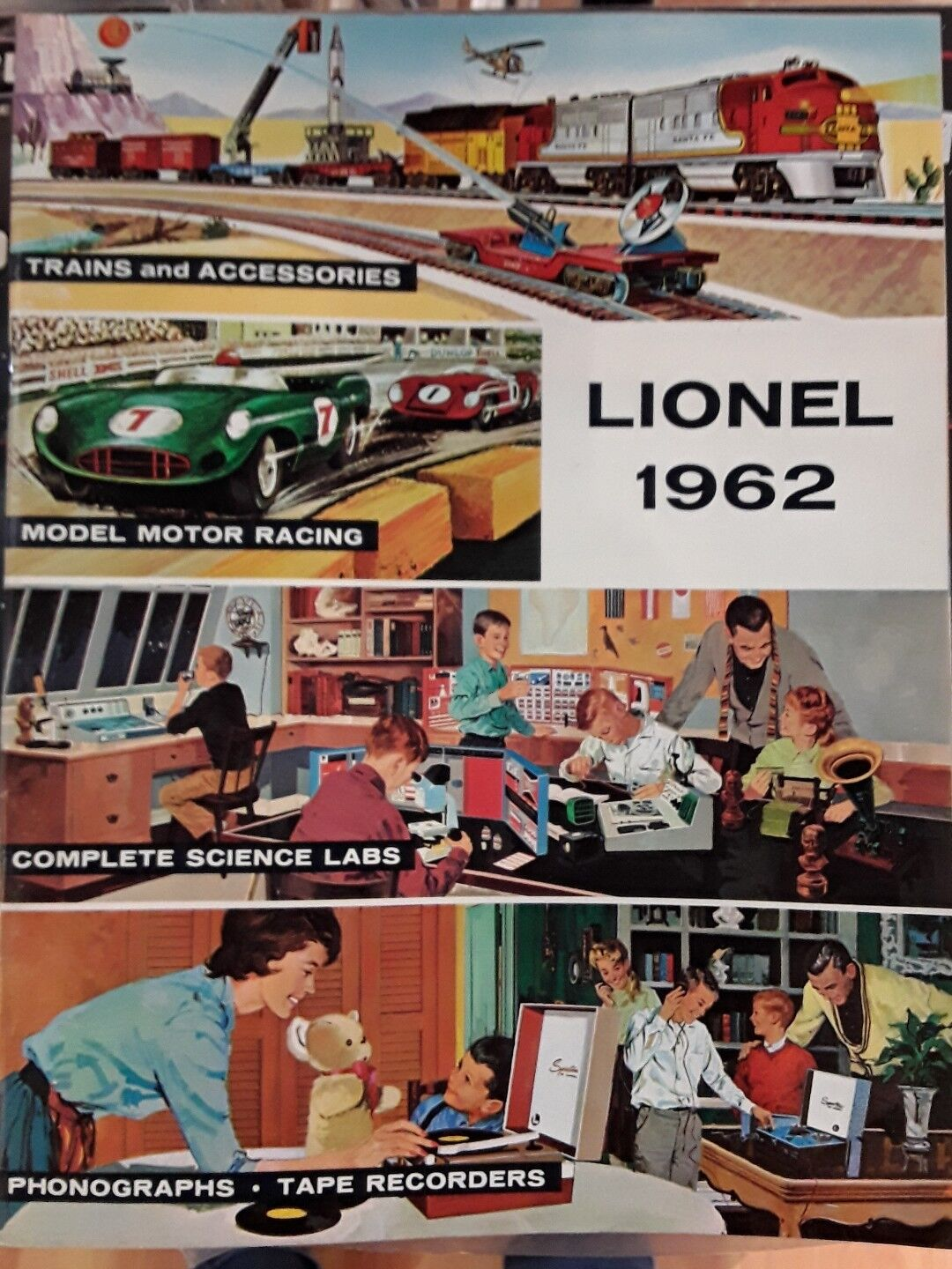 Lionel Trains Catalog 1962 full color good condition Vintage
