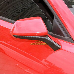 Image Is Loading Carbon Fiber Look Body Side Mirror Cover Trims