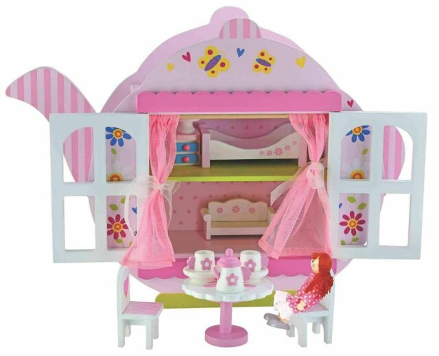 Girls Toys Bubbadoo Teapot Doll House Wooden Fun Playset For Child Toy Gift Item