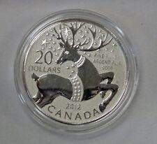 {BJstamps}  2012 CANADA $20  Fine Silver REINDEER  w/ folder Sealed