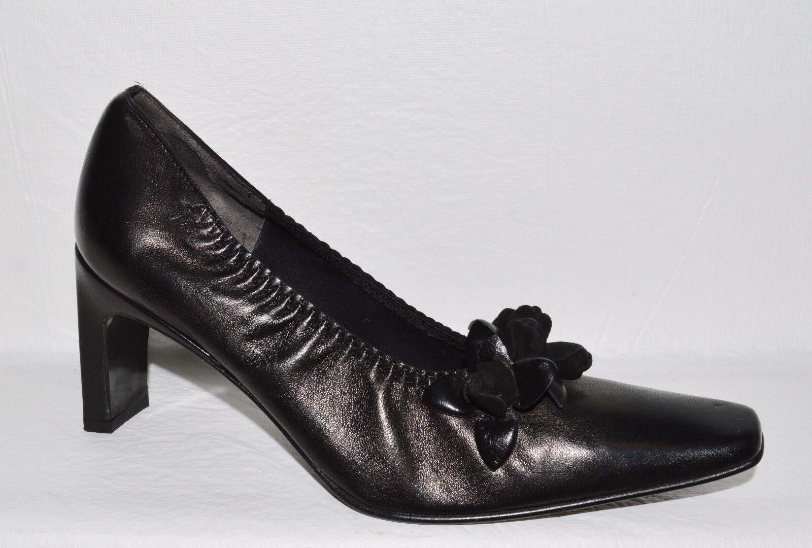 buona reputazione JEAN PAUL BARRIOL ACCESSOIRE PARIS 6 6 6 M 37 nero LEATHER PUMPS HEELS scarpe FRANCE  per il tuo stile di gioco ai prezzi più bassi