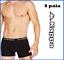 miniatuur 1 - 6-boxer-da-Uomo-intimo-in-cotone-elasticizzato-Kappa-Nero-Bianco-Assortito