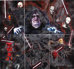 Star-Wars-Galaxy-Series-7-Complete-6-Card-Foil-Chase-Set-Topps-2012-NM
