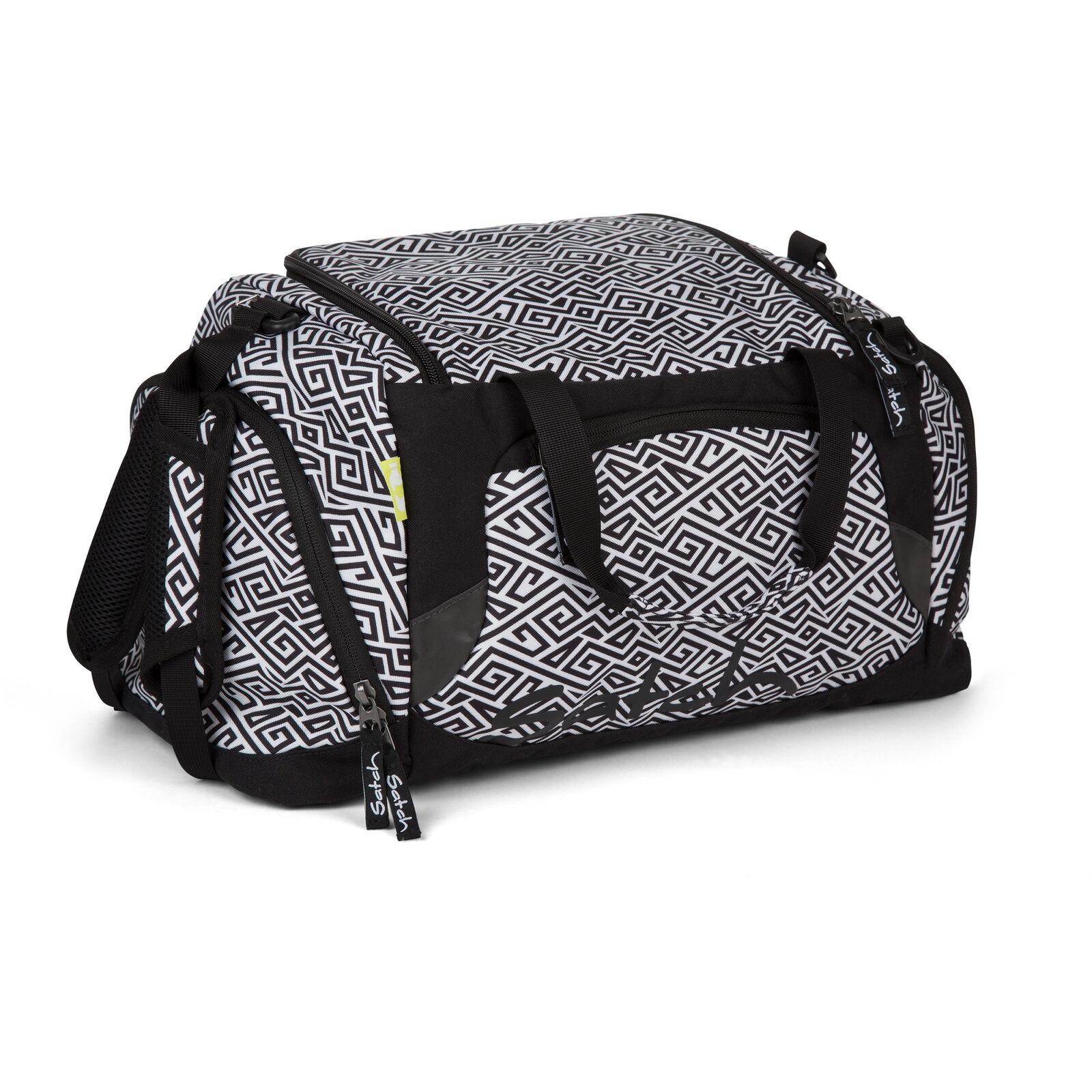 Satch sports bag 50 cm (snow safari tribal black white)