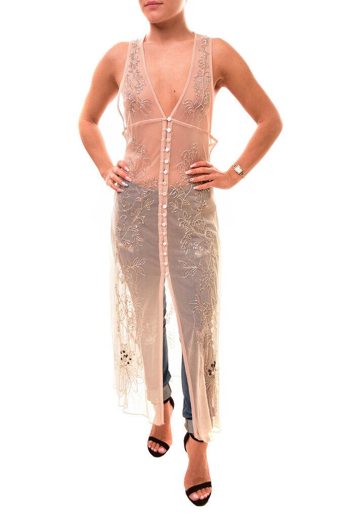 Free People Woherren Transparent Tunic Nude Größe S