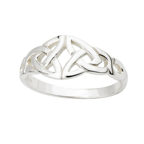 Sterling Silver Trinity Knot Celtic Irish Ring s2428 Made in Ireland by Solvar