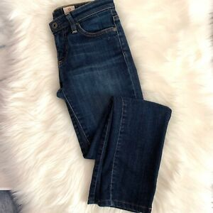AG-Adriano-Goldschmied-The-Stevie-Slim-Straight-Dark-Wash-Womens-Jeans-Size-25r