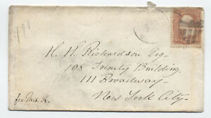1860s-3-cent-1861-65-Cambridge-MA-shield-fancy-cancel-on-cover-y2942