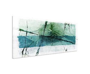 das bild wird geladen 150x50cm panoramabild paul sinus art abstrakt gruen blau - Wohnzimmer Bilder Abstrakt
