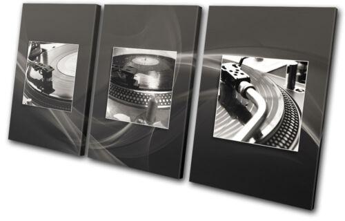 DJ Club Vinyl Decks Turn Tables TREBLE Leinwand Wand Kunst Bild drucken