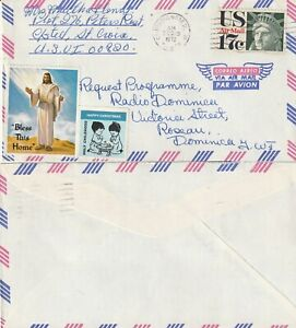 US-1972-COMMERCIAL-FLOWN-COVER-CHRISTIANSTED-VIRGIN-ISLANDS-TO-DOMINICA