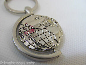 Silver colour solid metal spinning world globe keyring gift charm image is loading silver colour solid metal spinning world globe keyring gumiabroncs Gallery